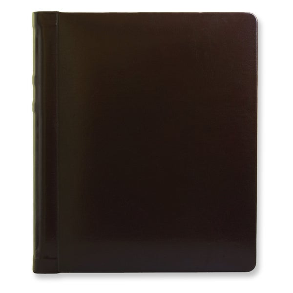 Versil Burgundy Leather 8-inch x 10-inch 20-photo Wedding Photo Album