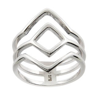 Eternally Haute High Polished Geometric Ring - Silver (3 options available)