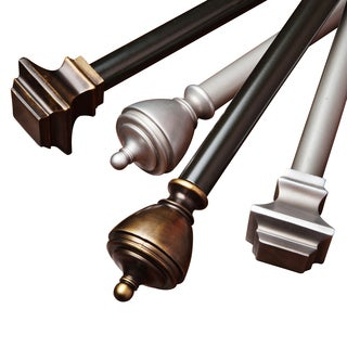 Aurora Home Hampton/Windsor Adjustable Rod and Hardware Set