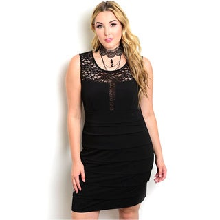 Shop The Trends Women's Plus Size Sleeveless Bodycon Dress