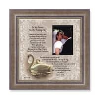 Versil 'On My Wedding Day' Brown Metal Sentiment Photo Frame