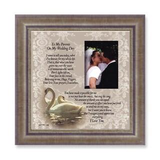 Versil 'On My Wedding Day' Brown Metal Sentiment Photo Frame