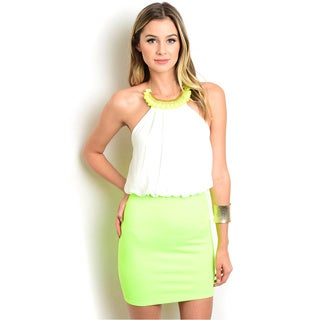 Shop the Trends Women's Sleeveless Bodycon Skirt and Blouson Bodice Combination Dress
