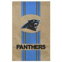 Burlap Carolina Panthers Flag