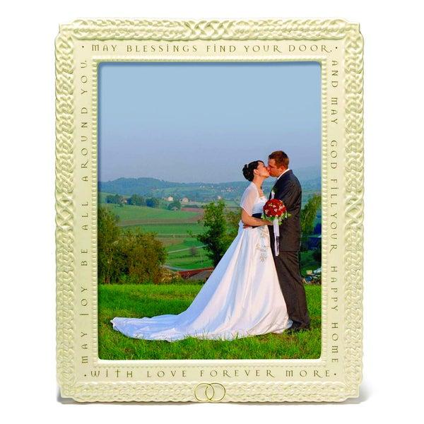 Versil Love Forever' Off-white Ceramic 8-inch x 10-inch Wedding Photo Frame