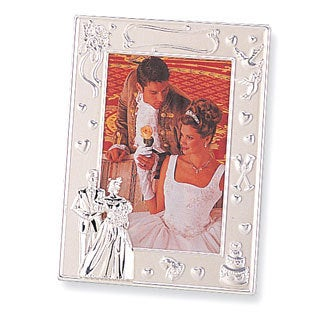 Versil Silver-plated 4-inch x 6-inch Wedding Photo Frame
