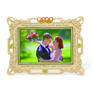 Versil Ceramic Irish 4-inch x 6-inch Wedding Photo Frame