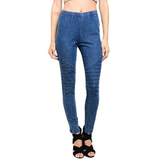 Shop The Trends Women's High-waisted Gathered Jeggings