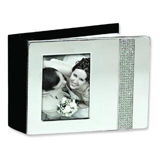 Versil Nickel-plated Glitter Photo Album (Holds 80 4-inch x 6-inch Photos)