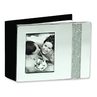 Versil Nickel-plated Glitter Photo Album (Holds 80 4-inch x 6-inch Photos)