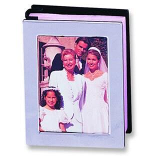 Versil Chrome-plated Metal 4-inch x 6-inch 80-photo Photo Album