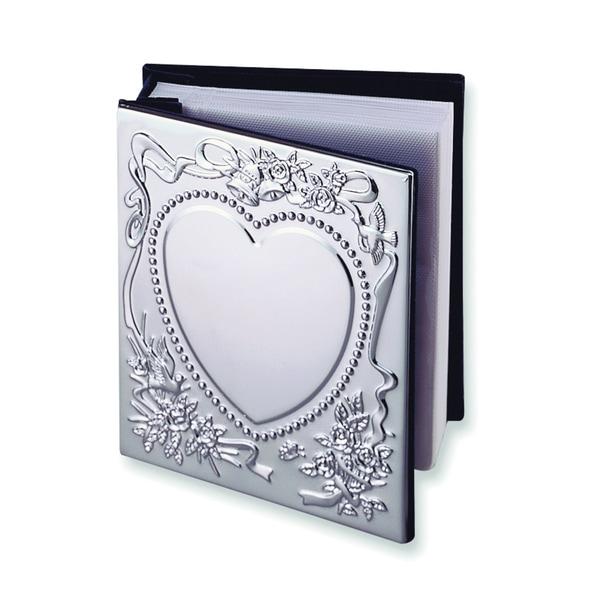 Versil Sweetheart Chrome-plated 4-inch x 6-inch Photo Album