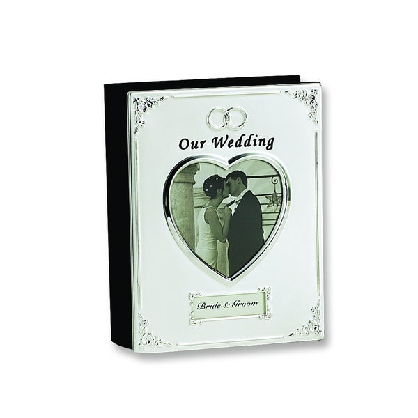 Versil Silver-plated 'Our Wedding' 4-inch x 6-inch 40-photo Album