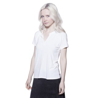 AtoZ Women's Modal Short-sleeve Crew-neck T-shirt