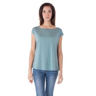A to Z Women's Black, Blue, Pink Cotton Modal Cap Sleeve Tee Shirt