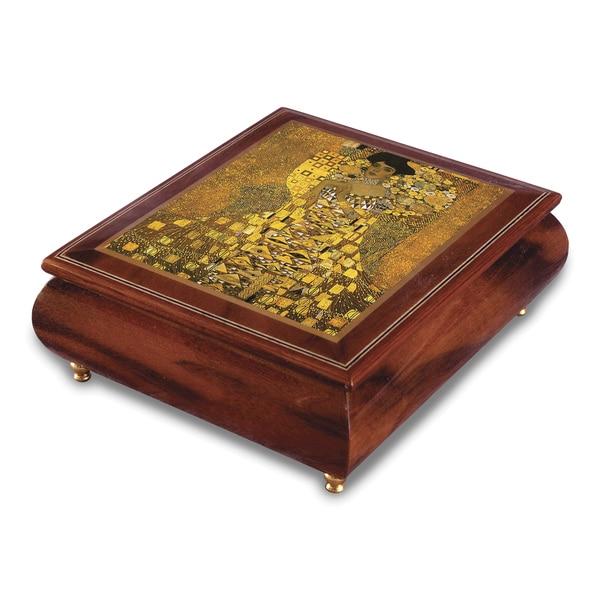 Versil Gustav Klimt 'Portrait of Adele Bloch-Bauer' Wood Music Box
