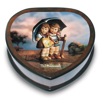 Versil M. I. Hummel 'Stormy Weather' Heart-shaped Music Box