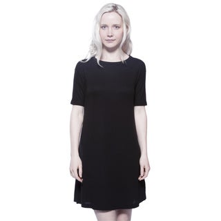 AtoZ Short Sleeve Thermal Modal Tunic Dress