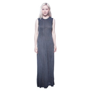AtoZ Sleeveless Soft Slub Viscose Maxi Dress