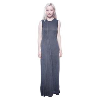 AtoZ Women's Black Viscose Twisted Maxi Dress