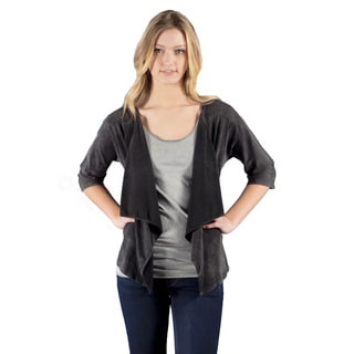 AtoZ Women's Antique Black Loose Cardigan