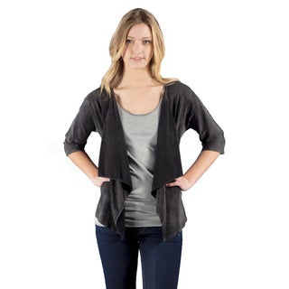AtoZ 3/4 Sleeve Loose Cotton Cardigan