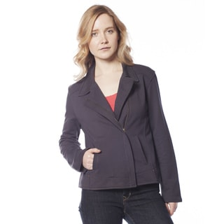 AtoZ Fitted Cotton Jacket with Asymmetric Zipper
