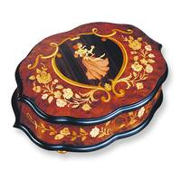 Versil Ercolano Wooden Dancing Couple Inlay Music Box