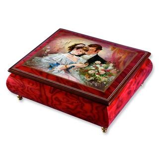 Versil Brenda Burke 'A Token of Love' Red Wood Music Box