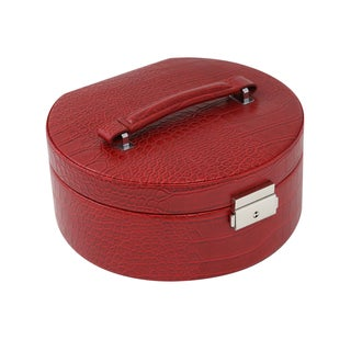 Red Croco 2-level Jewelry Case