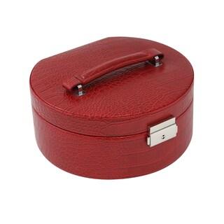 Red Croco 2-level Jewelry Case