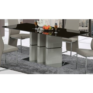 Global Furniture Grey Glass Rectangular Dining Table