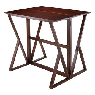 Winsome Walnut Finish Harrington Kitchen Drop Leaf 31.5-inch x 39.37-inch x 36.22-inch High Table