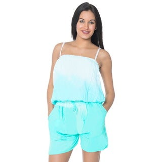 La Leela Rayon Tie Dye Stretchable Women Plus Jumpsuit Romper Playsuit Beach S/M