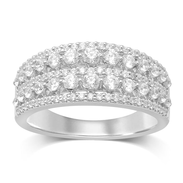 Unending Love 14k White Gold 1ct TDW Diamond Fashion Band