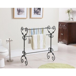 K and B Furniture Co Pewter Towel Rack