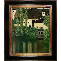 Gustav Klimt 'Water Castle' Hand Painted Framed Canvas Art