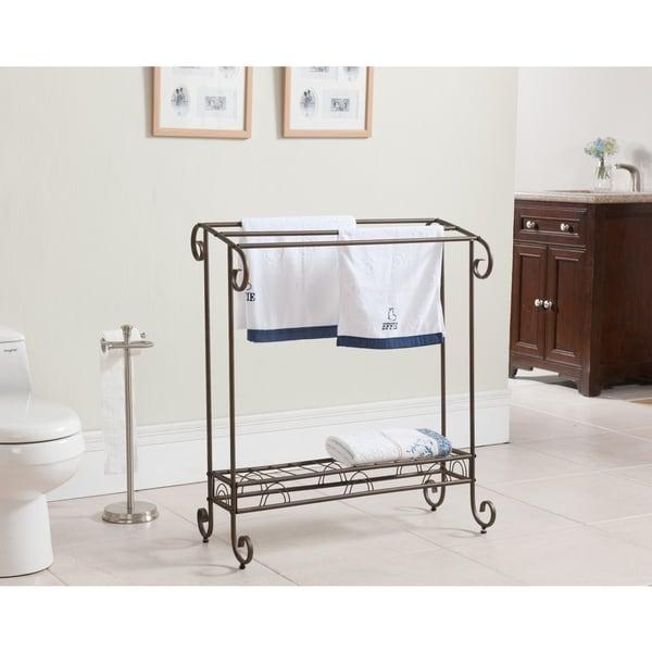 K&B 1411 Silvertone Metal Towel Rack