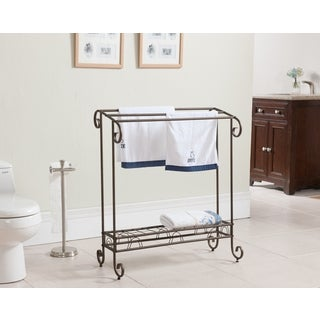 K&B 1411 Silvertone Metal Towel Rack