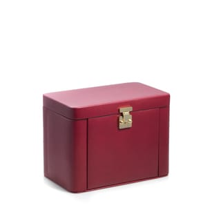 Bey Berk Red/Black Leather 4-level Jewelry Case