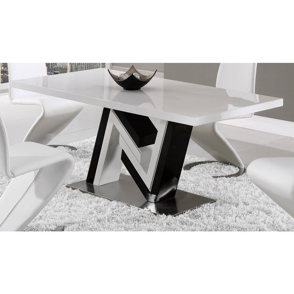 global furniture black and white dining table free shipping today