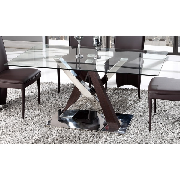 Charmant Global Furniture Wenge MDF, Chrome, And Glass Dining Table