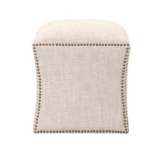Gray Manor Lee Square Footstool