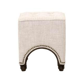 Gray Manor Theresa Cream Oak Square Footstool