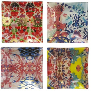 Tracy Porter Glass Square Plates (Pack of 4)