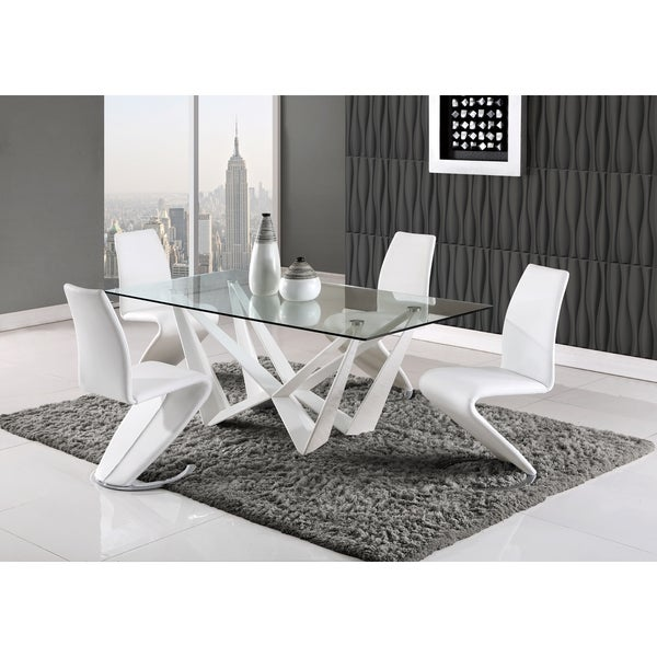 Shop Global Furniture High Gloss White Dining Table