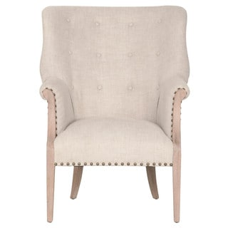 Gray Manor Randall Cream Oak and Linen Club Chair