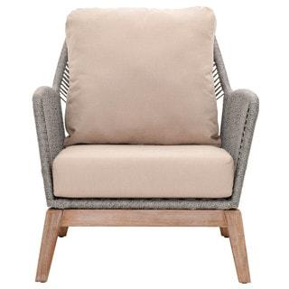 Gray Manor Curtis Grey/Natural Mahogany Club Chair