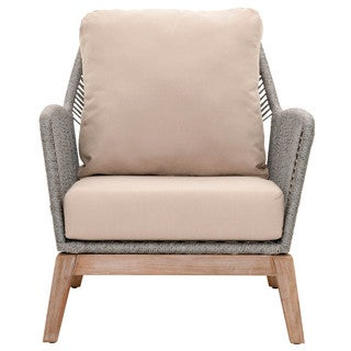 Gray Manor Curtis Grey/Natural Mahogany Club Chair