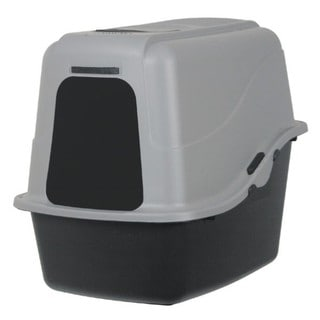 Petmate Plastic Hooded Pan With Microban Litter Box